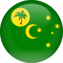 cocos, country, flag, islands icon
