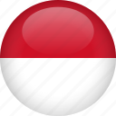 country, flag, indonesia