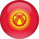 country, flag, kyrgyzstan