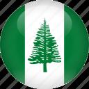 country, flag, norfolk, island