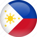 country, flag, philippines icon