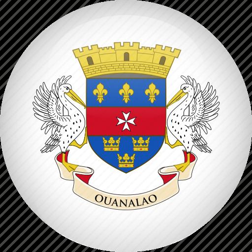 barthelemy, country, flag, saint, saint barthelemy icon