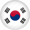 country, flag, korea, south