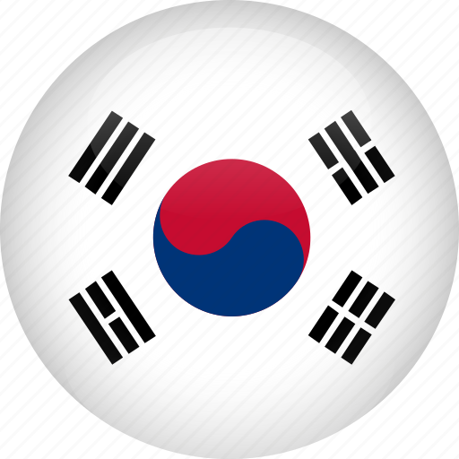 country, flag, korea, south icon