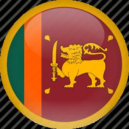 country, flag, srilanka icon