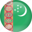 country, flag, turkmenistan icon