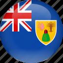 caicos, country, flag, turks, turks and caicos