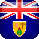 caicos, flag, turks, turks and caicos icon