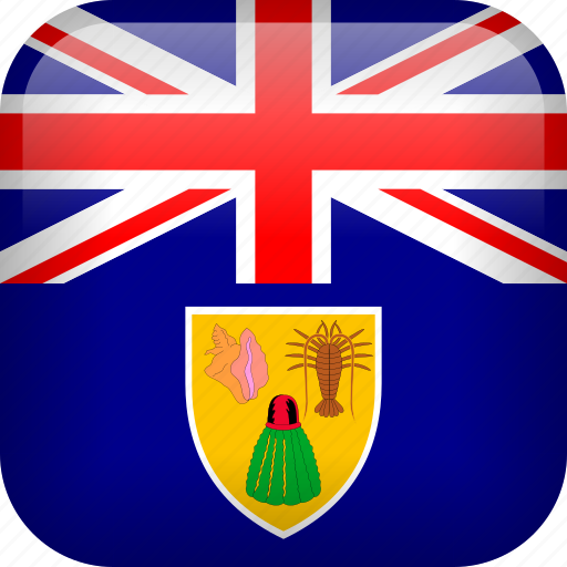 caicos, flag, turks, turks and caicos icon