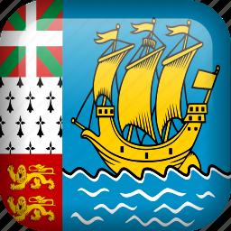 flag, saint pierre and miquelon icon