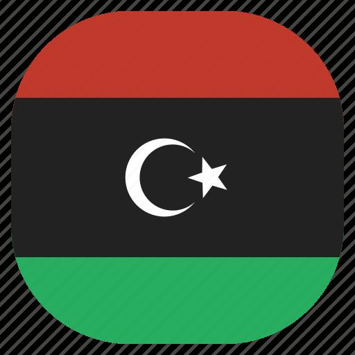 country, flag, libya, libyan, national icon