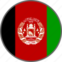 afghanistan, flag, country icon