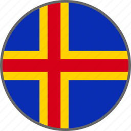 aland, country, flag icon