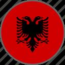 albania, flag, country