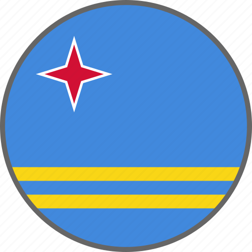 aruba, country, flag icon