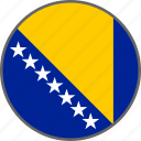 bosnia, country, flag icon