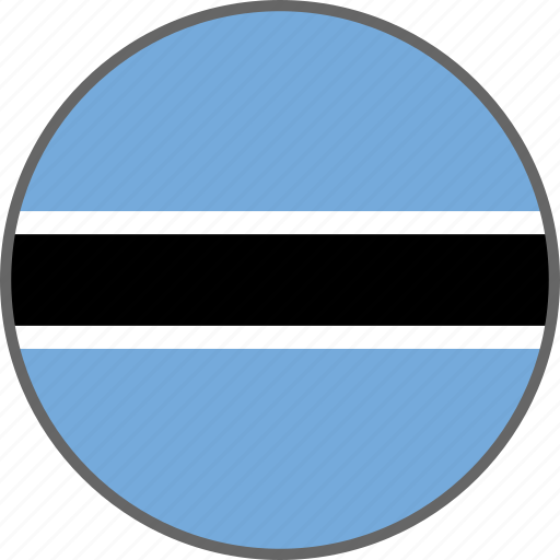 botswana, country, flag icon