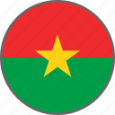 burkina faso, country, flag icon
