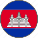 cambodia, flag, country icon