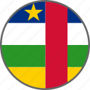 central african republic, country, flag icon