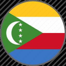 comoros, country, flag icon
