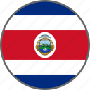 flag, costa rica, country