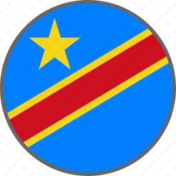 country, democratic republic of the congo, flag icon