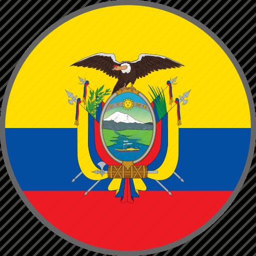 country, ecuador, flag icon