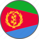 eritrea, flag, country icon