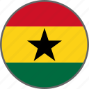 ghana, flag, country icon