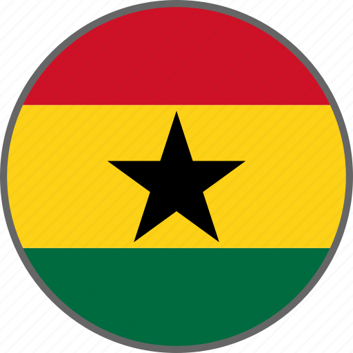 country, flag, ghana icon
