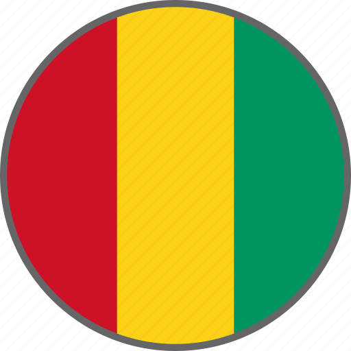 country, flag, guinea icon