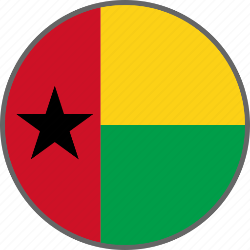 bissau, country, flag, guinea bissau icon