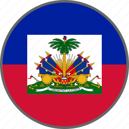 country, flag, haiti icon