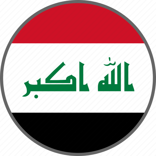 country, flag, iraq icon