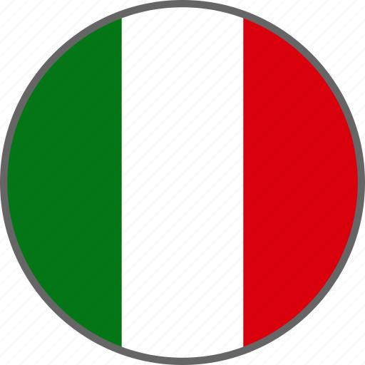 Flag, italy, country icon