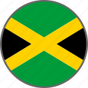 flag, jamaica, country icon