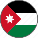flag, jordan, country icon