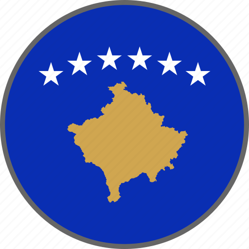 country, flag, kosovo icon