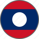 country, flag, laos icon