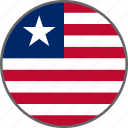 country, flag, liberia icon