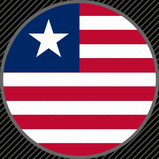 country, flag, liberia icon