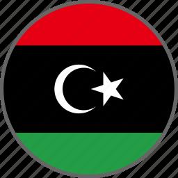 country, flag, libya icon