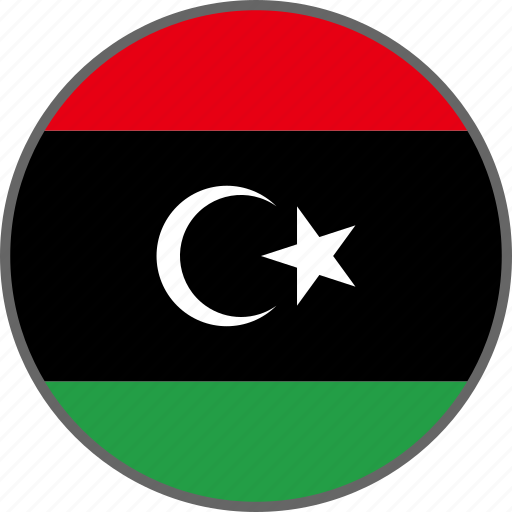 country, flag, libya icon