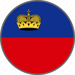 country, flag, liechtenstein icon