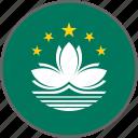 country, flag, macau icon