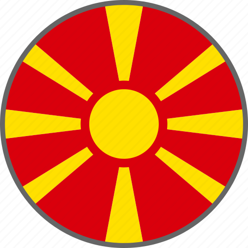 country, flag, macedonia icon