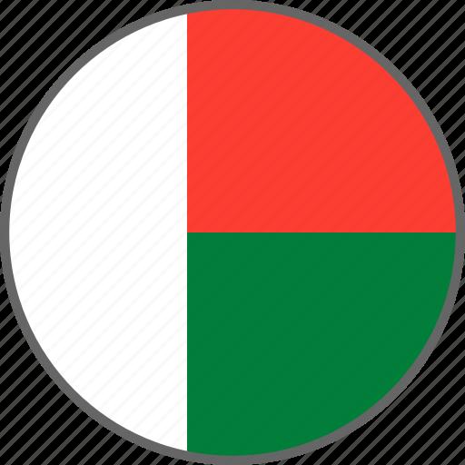 country, flag, madagascar icon