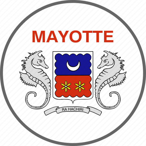 country, flag, mayotte icon