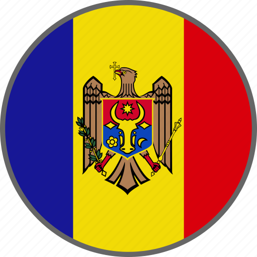country, flag, moldova icon